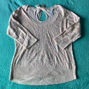 Cute Sparkly Half Sleeve Sweater